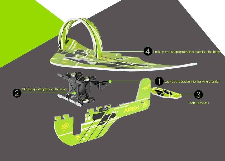 In Drone Model Quadcopter