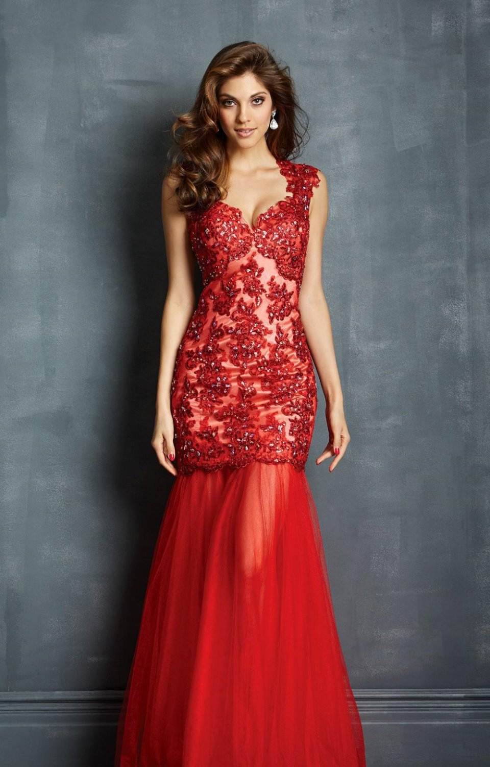 Party Prom Gown 2018hot Sexy Backless Vestido De Festa Red Long Formal Lace Evening Abendkleider Mother Of The Bride Dresses