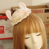 ปริ๊นเซโกธิคโลลิต้ากิ๊บโลลิต้าลูกไม้ที่ทำด้วยมือหมวกผมผ้าโพกศีรษะกิ๊บดอกไม้DIYหูกระต่าย...