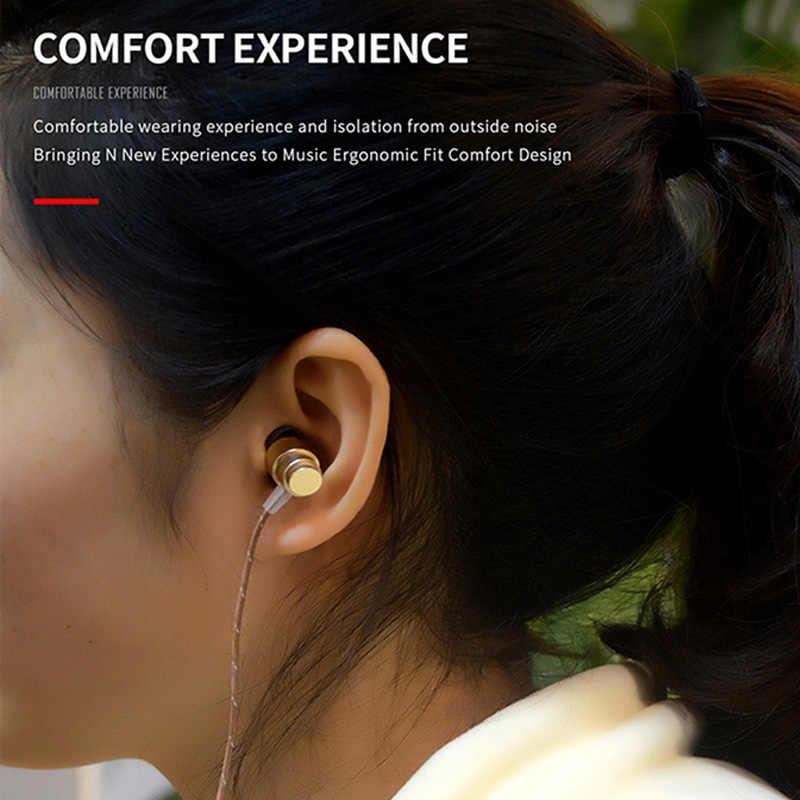 Проводные наушники металлические наушники в ухо спортивные наушники стерео гарнитура наушник с микрофоном громкой связи для iPhone samsung Xiaomi телефон,