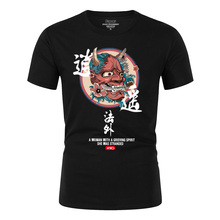 2019 fashion dragon print T-shirt hip hop unrestrained foreigner style Chinese casual faucet men and women shirt