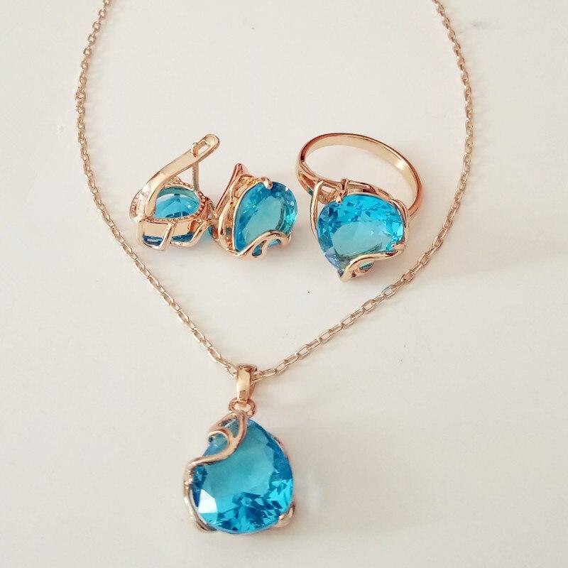 1set Trendy Women Jewelry Sets Rose Golds