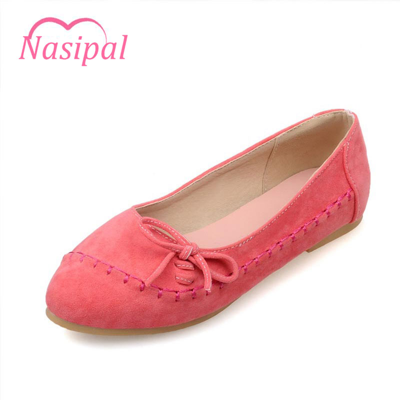 Nasipal Women Flats Bowtie Spring Summer Shoes Slip On Casual Shoes Comfortable Round Toe Flat Shoes Woman Plus Size Sweet C006 plus size 34 43 new platform flat shoes woman spring summer sweet casual women flats bowtie ladies party wedding shoes