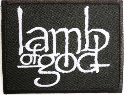 Venta al por menor LAMB OF GOD Banda de Música Iron On/Sew On Patch Tshirt transferencia motivo aplique Rock Punk insignia al por mayor x'mas regalo