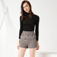 Europe And The United States Women S Short Pant 2017 Autumn New Pants Stitching Casual High