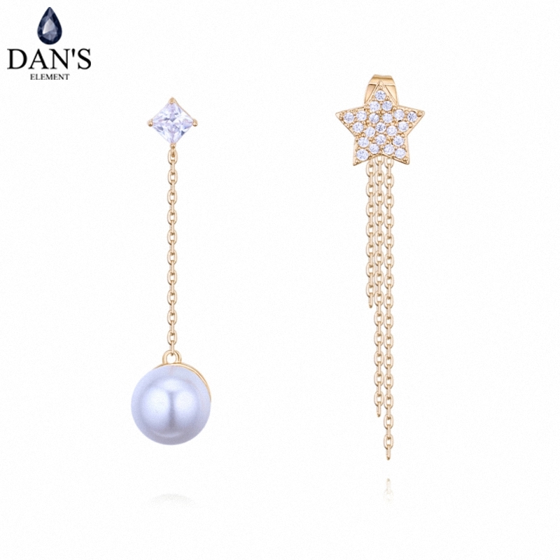 DANS 3 Colors Real Austrian crystals Stud earrings for women Earrings s New Sale Hot Round 128658
