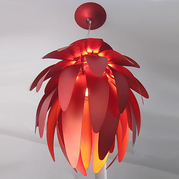 hanging lights bedroom European Creative Dragon fruit pendant light aluminum sheet Pinecone design lamp pendant lighting compatible projector lamp projector bulb with housing elplp16 v13h010l16 fit for emp 51