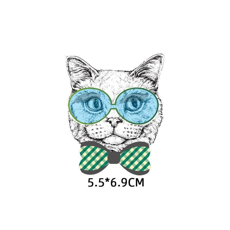 Милые маленькие животные Единорог Сова собака кошка патч для одежды стикер для детей мальчик девочка DIY патчи Футболка теплопередача Винил - Цвет: zt1118