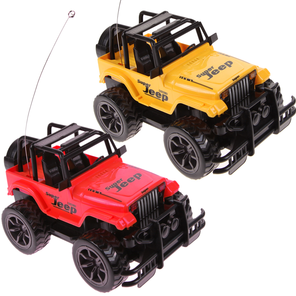 cool 124 drift speed radio remote control rc jeep off road vehicle headlight 4 channels rc car children kids baby toys gift