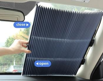 65/70 см солнцезащитный козырек для переднего окна автомобиля, шторка для лобового стекла, солнцезащитный козырек для Renault Koleos Kadjar Fluence, аксесс...