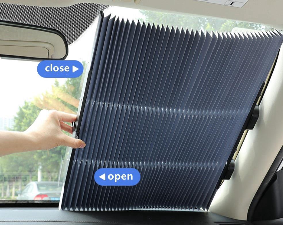 Car Window Sunshade Windshield Curtain Cover Sun Visor For KIA Optima KX CROSS Sportage Niro Forte RIO 4 K2 KX3 KX5 Ceed Soul-in Windshield Sunshades from Automobiles & Motorcycles