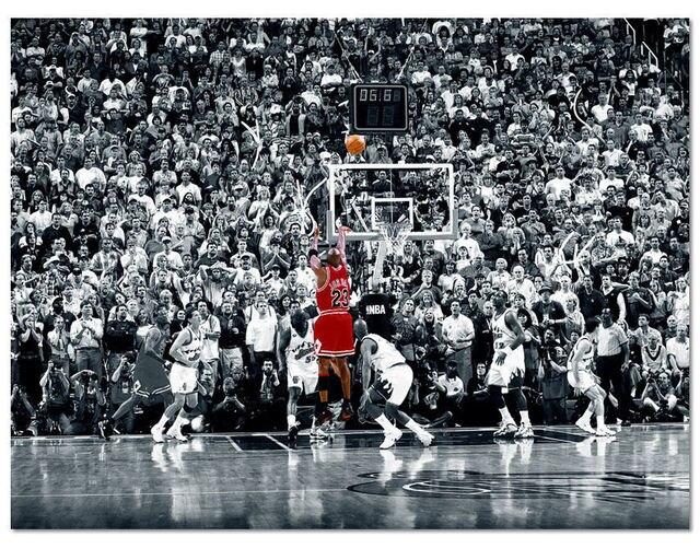 62a5c27cb38 Michael Jordan Poster Chicago Bulls Final Game Last Shot 32x24-in ...