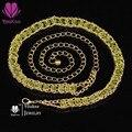 Joyería de moda Rhinestone Crystal Diamante Cadena De La Cintura para el Vestido de Fiesta 3 de Color Ajustable de La Pretina de La Correa de Los Encantos de Accesorios
