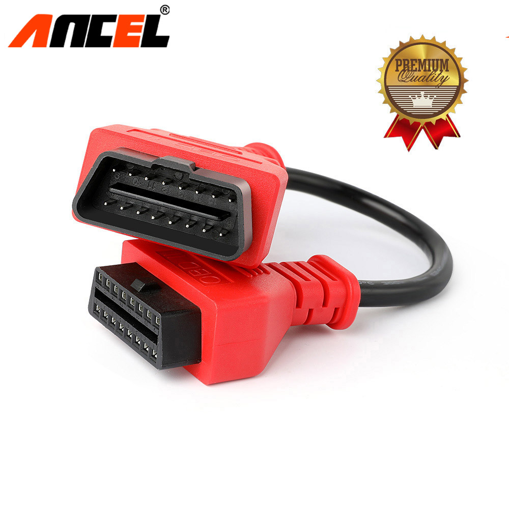 Ancel Universal Car OBD2 Extension Cable 30CM 16 Pin for OBD2 II EOBD Extend Connector Adapter Interface Auto Diagnostic Tool