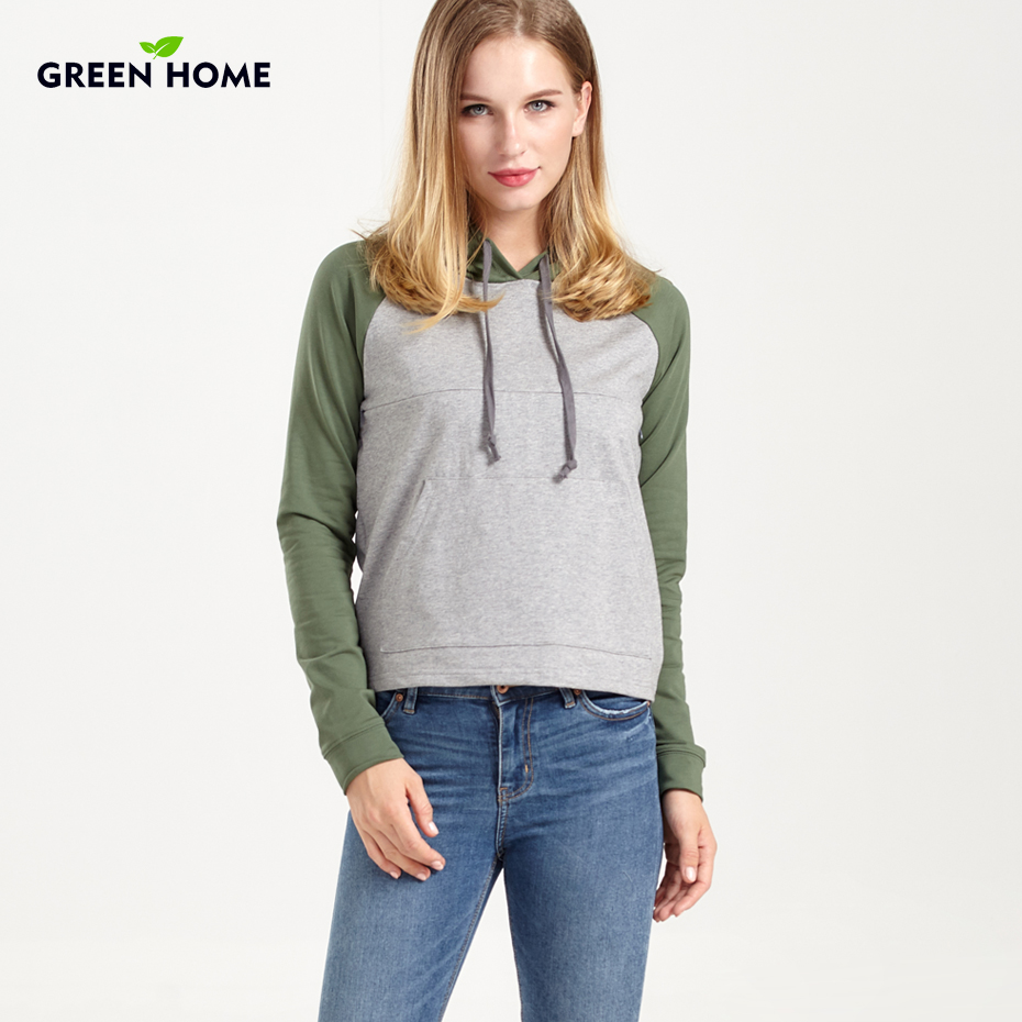 green home hoodies maternity clothing with pocket winter