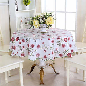 Mrosaa Round Water Tablecloth Table Cover Table Cloth
