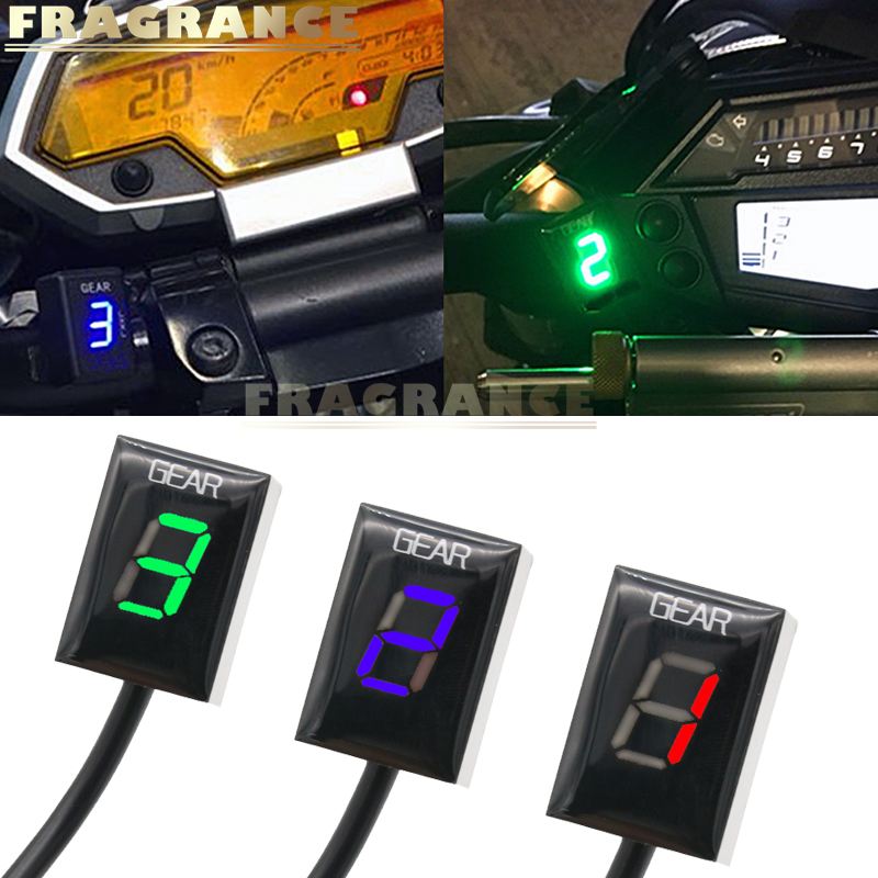 For Triumph Sprint RS 1999 2004 ST 1998 2004Motorcycle LCD Electronics 1 6 Level Gear Indicator Digital Gear Meter