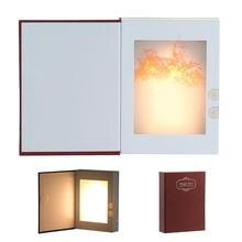 Светодиодный светильник в форме книжки с эффектом пламени usb
