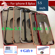 Original New Front Bezel Chassis Frame For iphone 8 8G Plus Back housing Middle with Side Buttons Set Replacement Part
