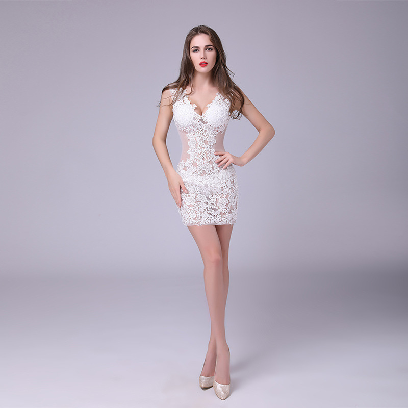 MUXU blanc dentelle robe patchwork robe sexy à la mode robes sukienka kleider été roupas jurk robe courte 2018
