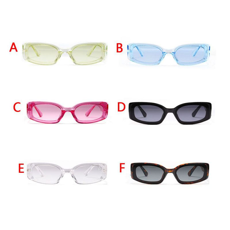 Female Lady Candy-colored Square Sunglasses Women Transparent Glasses European And American Hipsters Recommended