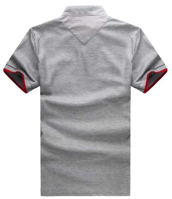 807d6efb7 ... Summer Clothing polo shirt Men Solid Color Slim Fit Short Sleeve Shirts  Men Mandarin Collar AKRAPOVIC