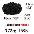 Бутик де FGG угольно черный кристалл клатч вечерняя сумка для женщин металлический клатч с цветочным принтом Свадебная вечеринка Цветок Роза сумочка и кошелек - 3