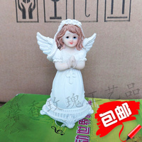 Christian Catholic foreign trade holy objects kneeling prayer little angel 11*7*6cm statue placed home decoration