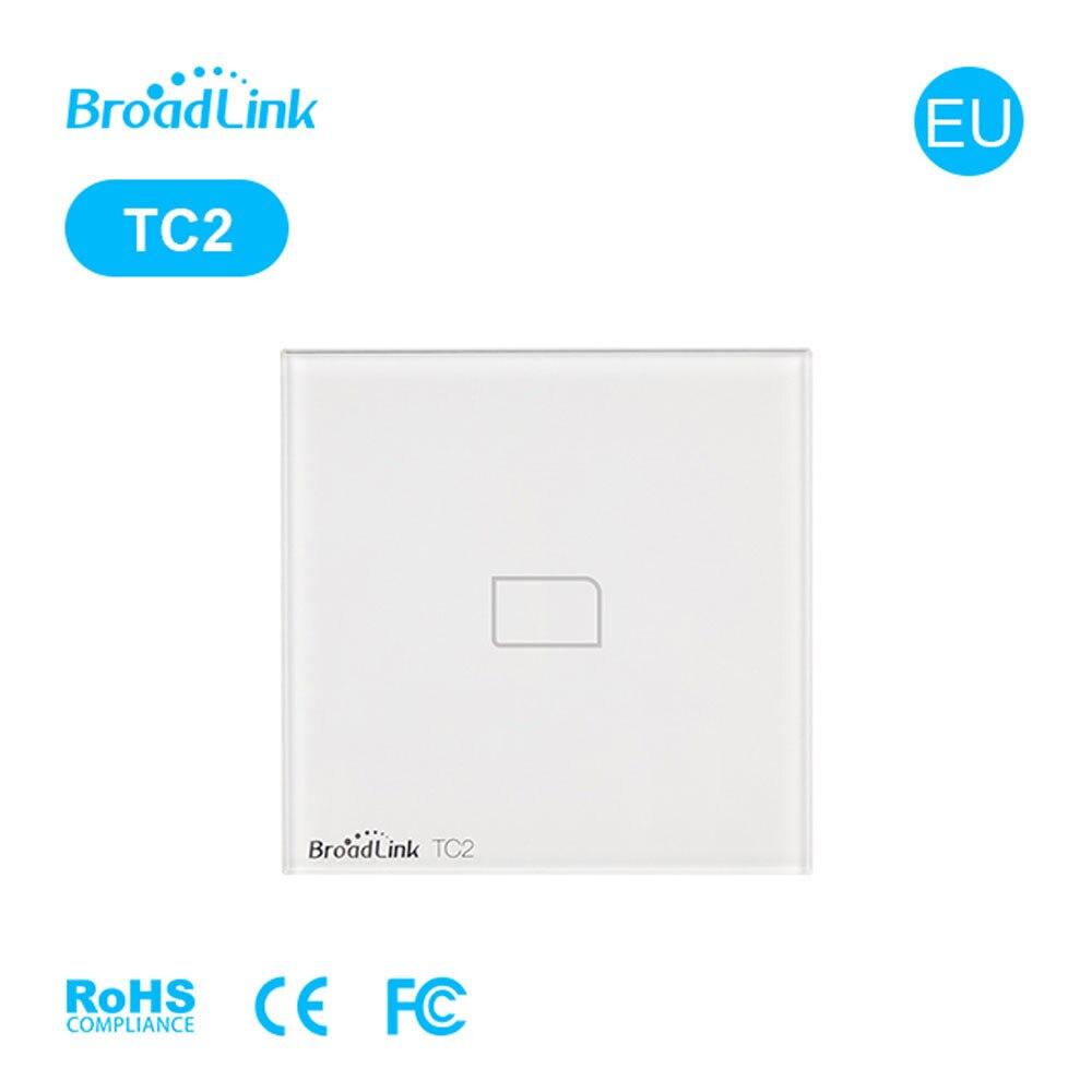 TC2 EU Smart Light Beralih 1 Gang Kaca Panel RF / Remote / Touch Light Beralih 220 V Rumah Pintar WiFi Kontrol via Brodlink RM Pro