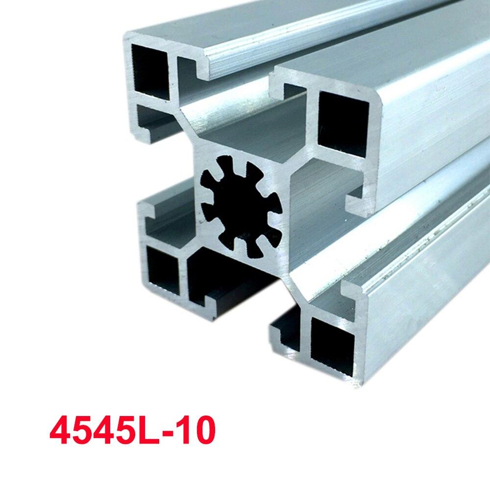 1 Stück 4545l-10 Eu Aluminium Profil 100-800mm Länge 2mm Wandstärke Linear Schiene Für Diy 3d Drucker Cnc
