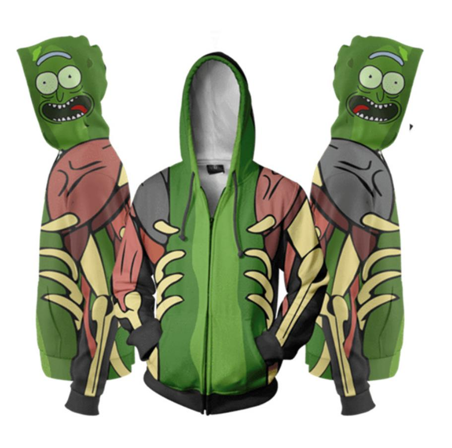 Rick And Morty Hoodie Anime Cosplay Rick Morty Sweatshirts Clothing 3d Digital Printing Zipper Costumes