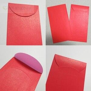 """Image 3 - 50pcs 172x90mm(3.7 """"x 3.5"""") 셀프 인감 빨간색 봉투 반짝이 선물 봉투"""