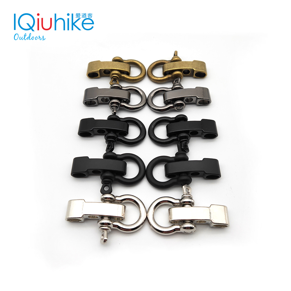 2pcs High Quality Alloy Adjustable O Shape Anchor Shackle Outdoor Survival Rope Paracord Bracelet Buckle For Outdoor Sport