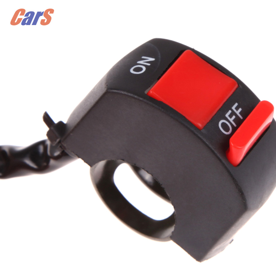 Motorcycle Switch DC12V/10A Motorcycle Switches Handlebar Double Flash Headlight Stop Switch ON/OFF Button