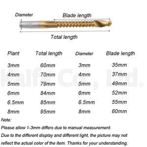 Image 2 - 6pcs/lots 3 8mm Titanium Coated HSS Drill Bit Electric Drill Plastic Metal Hole Grooving Drill Saw Carpenter Woodworking Tools