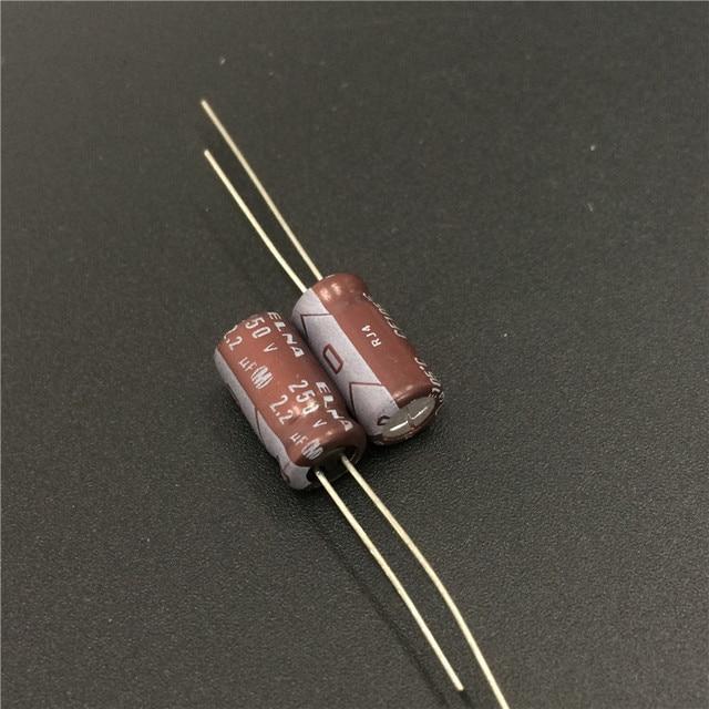 10 sztuk 2.2uF 250V japonia ELNA RJ4 serii 6x12mm 250V2.2uF kondensator klasy Audio