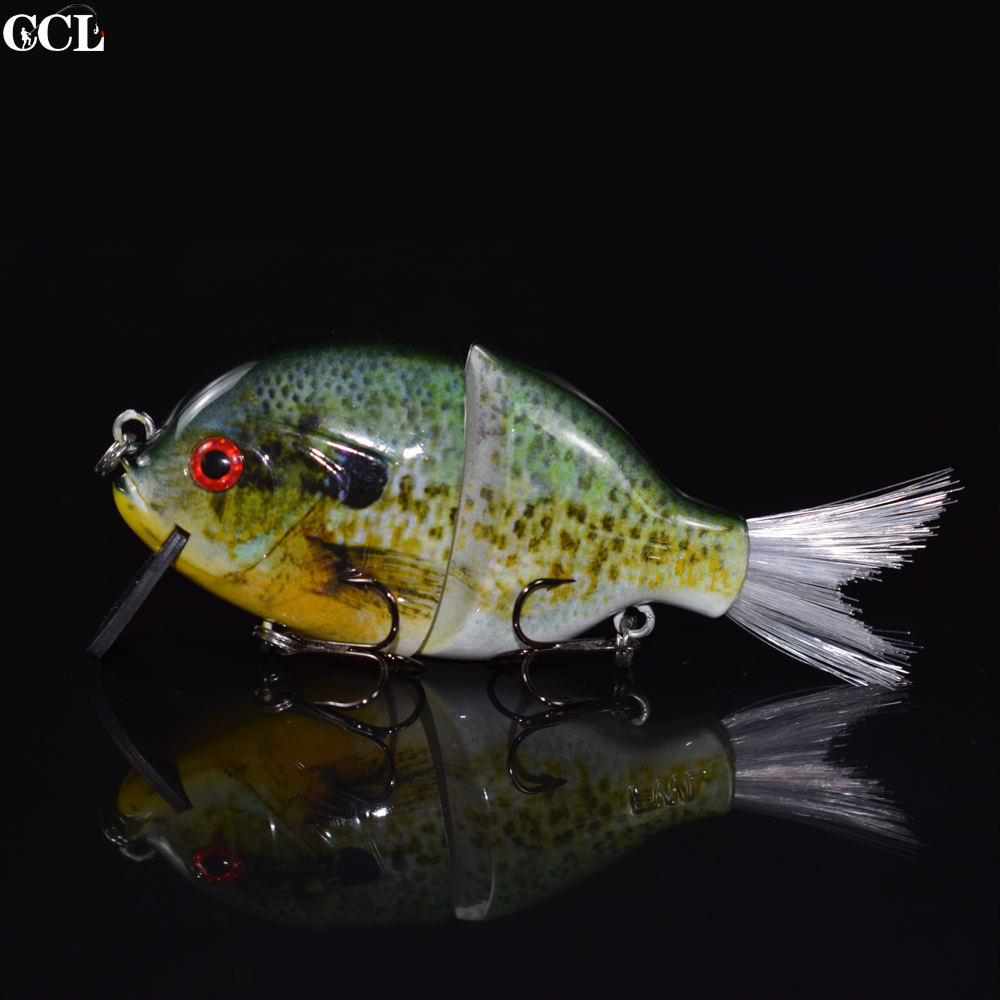 CCL Perfect Swimming Action Fishing Lures Minnow SwimBait 4 inch Floating Jointed Fishing Lures Carbon bill Bait Blue Gill Baits