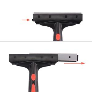 Image 5 - EHDIS 6 นิ้วคาร์บอนไฟเบอร์คาร์บอนไฟเบอร์ไวนิลรถตัดสติกเกอร์ Handled Scraper ทำความสะอาดสแตนเลสใบมีดไม้กวาดหน้าต่างฟิล์มกาว Remover