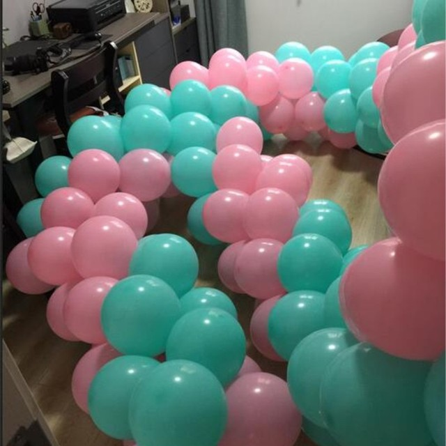 Birthday Decorations Balloons Light Pink 50pcs Lot10 Inch 22 G Round Tiffany Blue Ballons Party
