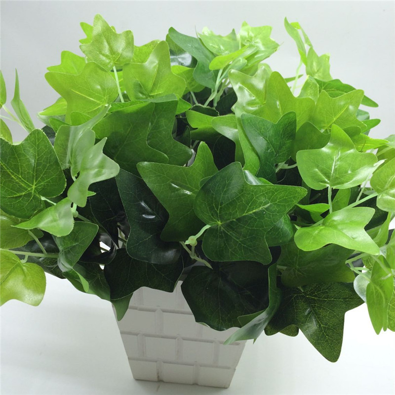 2017 Real Sale 1pcs Long 34cm Artificial Decorative Mini Simulation Small Potted Diy Flower Arrangement Craft Sweet Potato Leaf