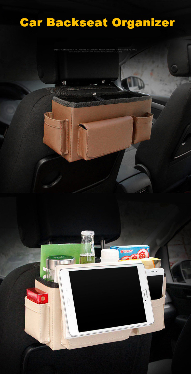 Car Backseat Multi Pockets Portable Storage Box Organizer