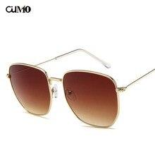 Ou Mo brand flat lens Square sun glasses zonnebril dames polarized Sunglasses Women/Men Reflective For Women Men