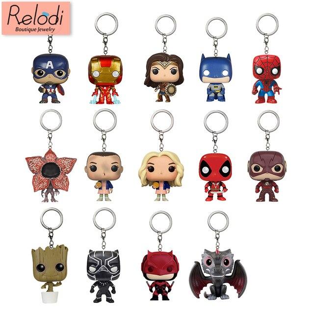 מארוול Keychain קפטן אמריקה איש ברזל Groot מפתח טבעת ילדים וונדר נשים מפתח שרשרת תיק תליון תכשיטי צעצועי ילדים SP1470