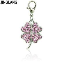 цены Floating Spherical Rhinestone Three-dimensional Four Leaf Clover Necklace&Pendant Zinc Alloy Pendant Necklace Fashion Jewelry
