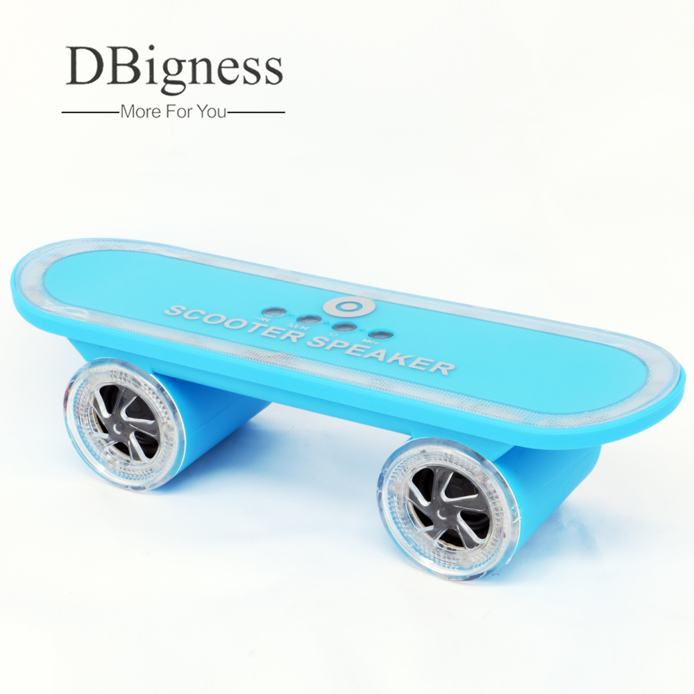 Dbigness Portable Speakers Scooter Skateboard Bluetooth Speaker LED Light Stereo Bluetooth Dancing Water Grill TF Card