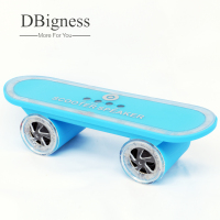 Dbigness Draagbare Luidsprekers Scooter Skateboard Bluetooth Speaker LED Licht Stereo Bluetooth Dancing Water Grill Tf-kaart Handsfree