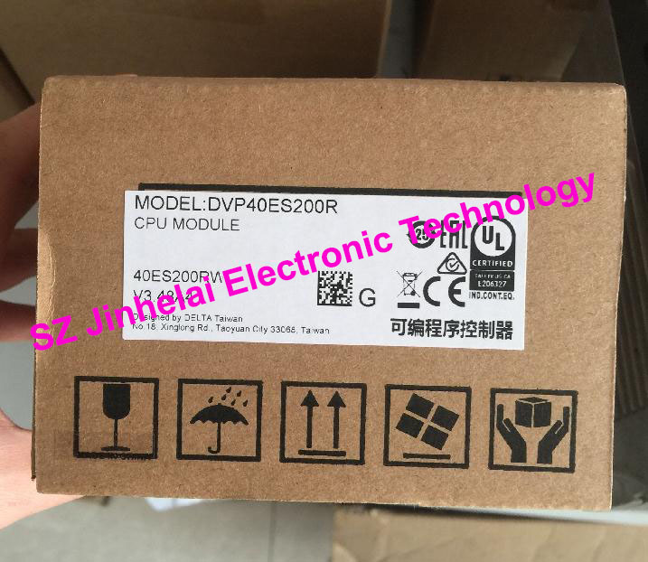 New and original  DVP40ES200T, DVP40ES200R  DELTA  PLC MODULE  40-POINT  24DI 16DO AC power new original delta dvp06sn11r dc24v plc 6do relay module