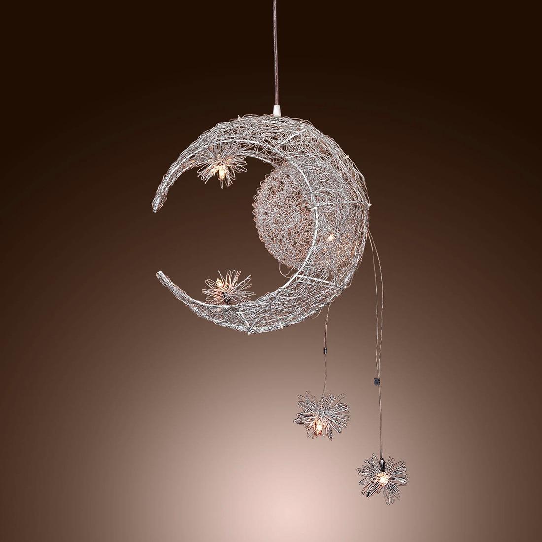 Hot Moon   Star Sweet Bedroom Lighting Pendant Lamp Chandelier Ceiling Light  Fixture China. Popular Moon Light Fixture Buy Cheap Moon Light Fixture lots from