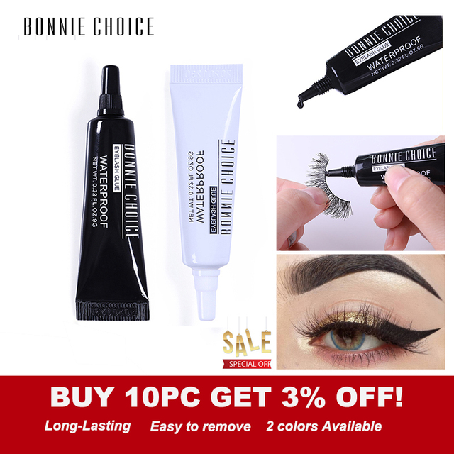 3f10105f3f8 BONNIE CHOICE False Eyelashes Glue Waterproof Adhesive Lash Glue Individual  Eyelash Extension Glue Maquiagem Eye Makeup