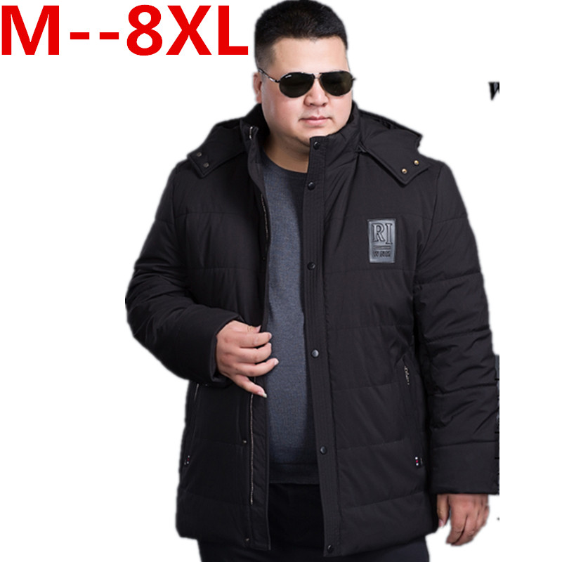 Plus size 10XL 8XL 6XL 5XL 4XL Brand Men Winter Padded Jacket Fashion Cotton Polyester Thick Coat Parka With Hood Free Shipping free shipping the new winter 2016 men down jacket brand men s 90% feather coat more men with thick cotton padded jacket m xxxl